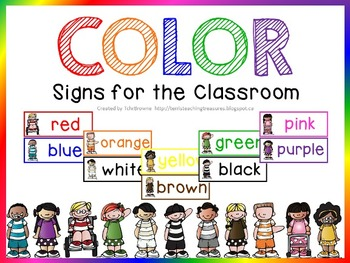 Color Posters for the Classroom