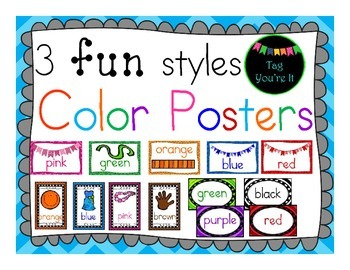 Color Posters in 3 FUN Styles!