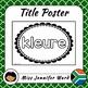 Color Posters in Afrikaans (Blackline)