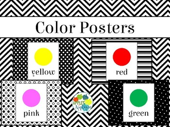 Color Posters in Black and White Theme