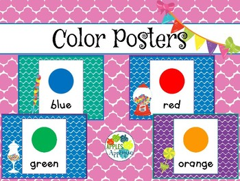 Color Posters in Candy Shop Theme