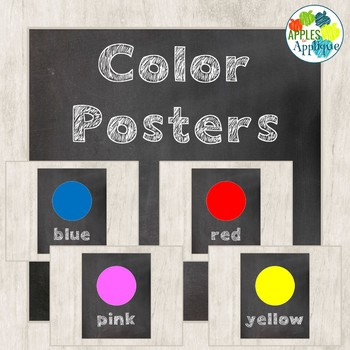 Color Posters in Chalkboard Theme