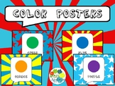 Color Posters in Comic Book Theme