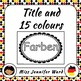Color Posters in German (Blackline)