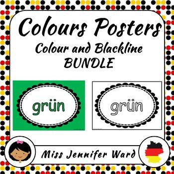 Color Posters in German BUNDLE