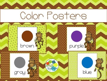 Color Posters in Monkey Theme