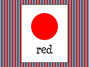 Color Posters in Primary Colors Theme