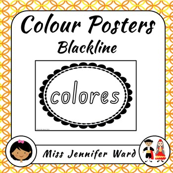Color Posters in Spanish (Blackline)