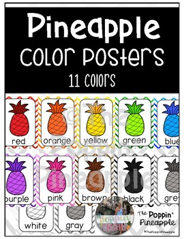 Color Posters in Tropical Pineapple Theme