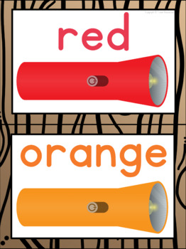 Color Posters in a Camping Classroom Decor Theme