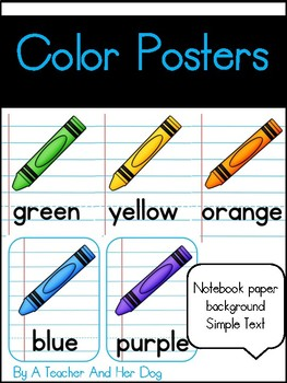 Color Posters with Notebook Background