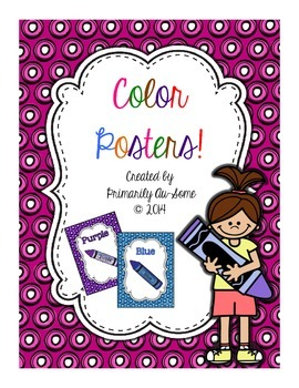 Color Posters with Dotty Background