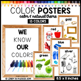 Color Posters with Photos (Calm and Natural Classroom Theme)