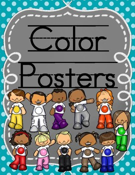Color Posters with Teal Background