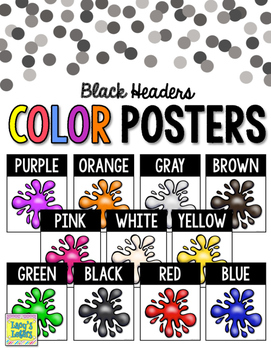 Color Posters with Black Headers