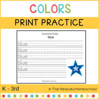Color Printing Pages - K-3rd