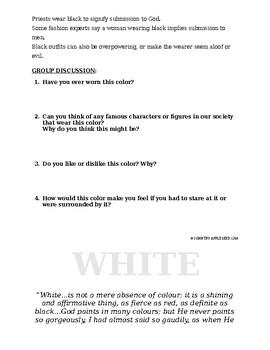 Color Psychology - Group Activity