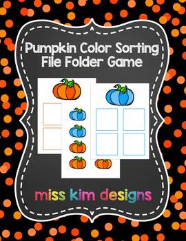 Color Pumpkin Sorting File Folder Game for Early Childhood