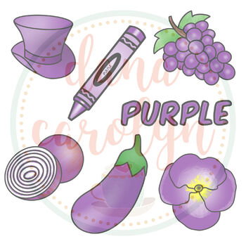Color Purple Clip Art (Movable Images for Distance Learning)