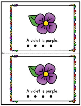 Color Purple Emergent Reader