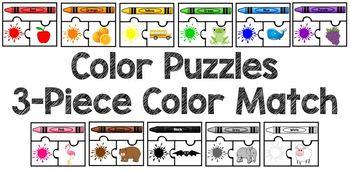 Color Puzzle 3-Piece Color Match