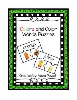Color Puzzle Math Center