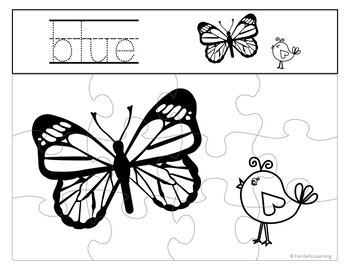 Color Puzzles - NO PREP activity