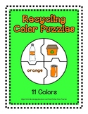 Color Puzzles Earth Day Recycling Theme