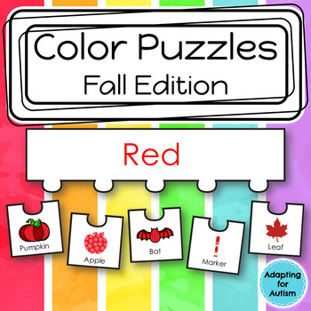 Color Sorting Work Task: Fall Season (adapted with 3 levels)