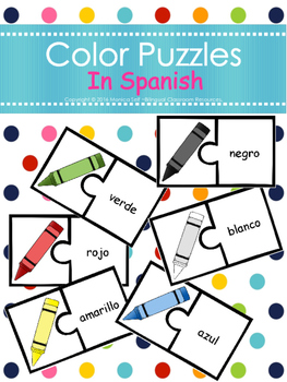 Color Puzzles In Spanish