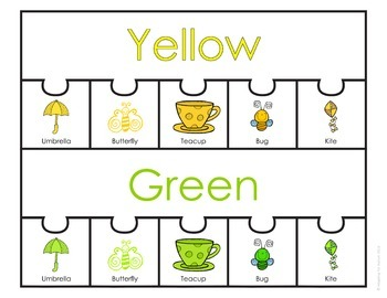 Color Sorting Work Task: Spring Season (adapted with 3 levels)