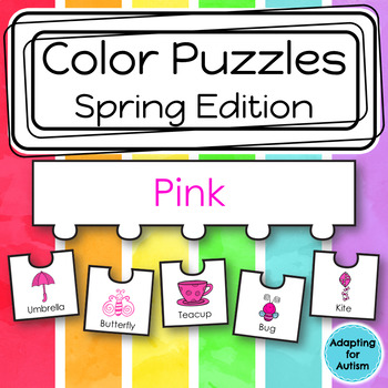 Color Puzzles Work Task: Spring Season (adapted with 3 levels)