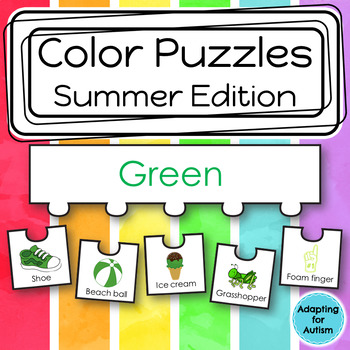 Color Sorting Work Task for Special Education and Autism (Summer)