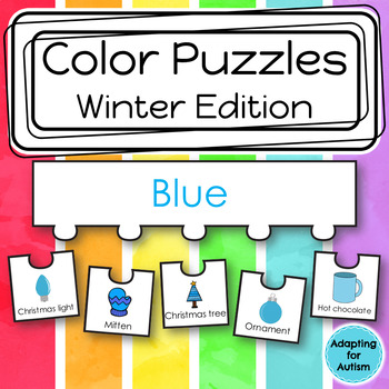 Color Sorting Work Task for Special Education and Autism (Winter)
