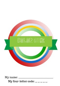 Color Quiz Packet Cover