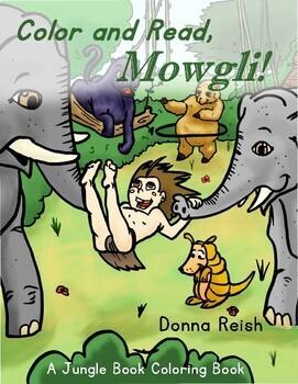 Color & Read, Mowgli Coloring Book and Reader