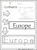 Color-Read-Trace It Continents Worksheets. Geography Curriculum.