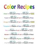 """Color """"Recipes"""""""