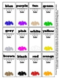 Color Recognition - 36 Magic House Cards - Early Reading S