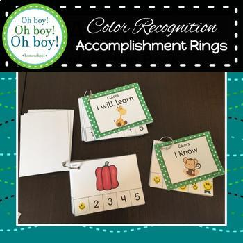 Color Recognition Accomplishment Rings