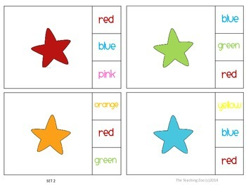 Color Recognition Clip & Learn Task Cards