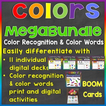 Color Recognition & Color Words Digital Boom Cards Megabundle (Learning Colors)