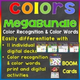 Color Recognition & Color Words Digital Boom Cards Megabun