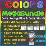 Color Recognition & Color Words Digital Google Slides Mega-bundle