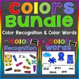 Color Recognition Color Words Google Slides Bundle (Learni