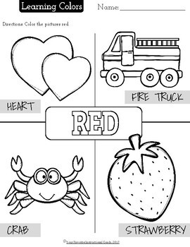 Color Recognition Coloring Activity Sheets