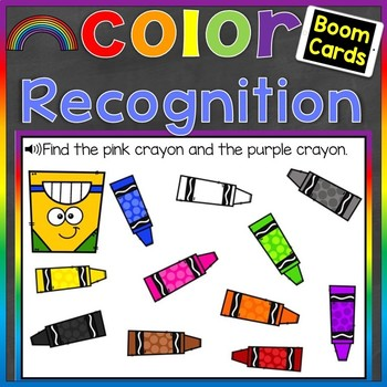 Color Recognition Digital Boom Cards (Learning Colors) Distance Learning