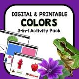 Color Recognition Digital Google Slides Games Bundle for P