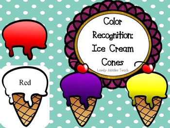 Color Recognition: Ice Cream Cones
