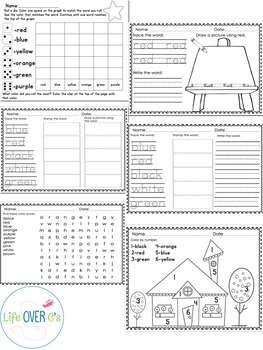 Color Recognition Math & Literacy Mega Pack for Colors and Color Words